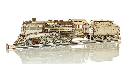 WOODEN CITY Express Train & Tender & Rails, 558 onderdelen