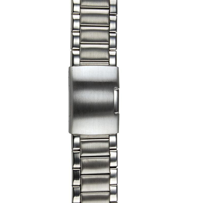 Horlogeband met vouwsluiting