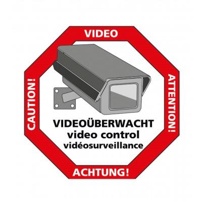 "Sticker ""Let op: videobewaking"""
