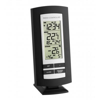 Radiografische thermometer met radiografisch uurwerk