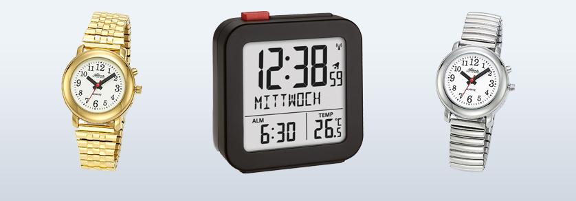 Sprekende Horloges/ Wekkers (Duits)